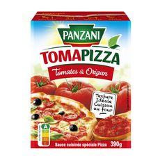 PANZANI Tomapizza sauce pizza cuisinée tomates et origan ss conservateur, en brique 390g