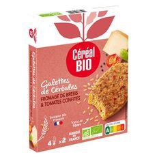 CEREAL BIO Galette aux céréales, fromage de brebis et tomates confites 2 pièces 200g
