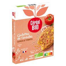 CÉRÉAL BIO Galette de céréales de qinoa et tomates 2 pièces 200g