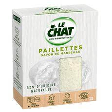 LE CHAT Lessive paillettes savon de Marseille  1kg