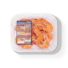 AUCHAN LE POISSONNIER Crevettes cuites 40/60 1kg