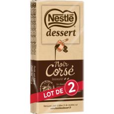 NESTLE DESSERT Tablette de chocolat noir pâtissier corsé intense 2 pièces 2x200g