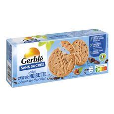 GERBLE Biscuits sablés saveur noisette avec pépites de chocolat sachets fraîcheur 3 sachets 132g
