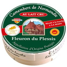 FLEURON DU PLESSIS Camembert de Normandie au lait cru AOP 250g
