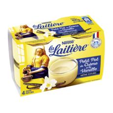 LA LAITIERE Pot de crème à la vanille 4x100g