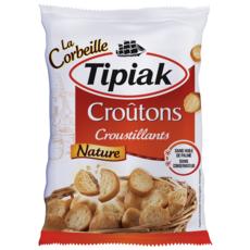TIPIAK Croûtons croustillants nature sachet refermable 300g
