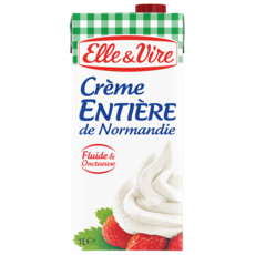 ELLE & VIRE Crème fluide entière 30%MG UHT 1L