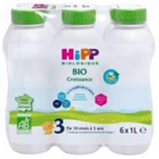 HIPP Combiotic 3 lait de croissance liquide bio dès 10 mois 6x1l