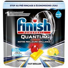 FINISH Quantum tablettes lave vaisselle parfum citron 35 lavages 35 tablettes