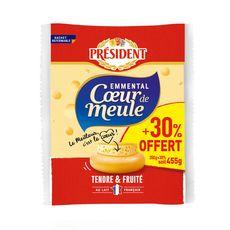 PRESIDENT Emmental Coeur de Meule 350g + 30% offert
