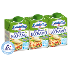 BRIDELICE Sauce béchamel UHT 3x20cl