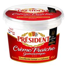 PRESIDENT Crème fraîche épaisse entière 30%MG 45cl