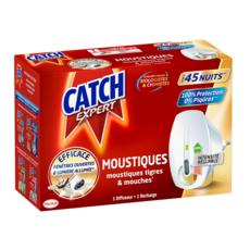 CATCH Diffuseur électrique anti-moustiques moustiques-tigres & mouches efficace 45 nuits 1 diffuseur