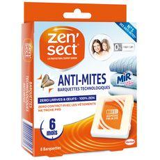 ZENSECT Barquettes technologiques anti-mites, larves & oeufs 8x6 mois 8 barquettes