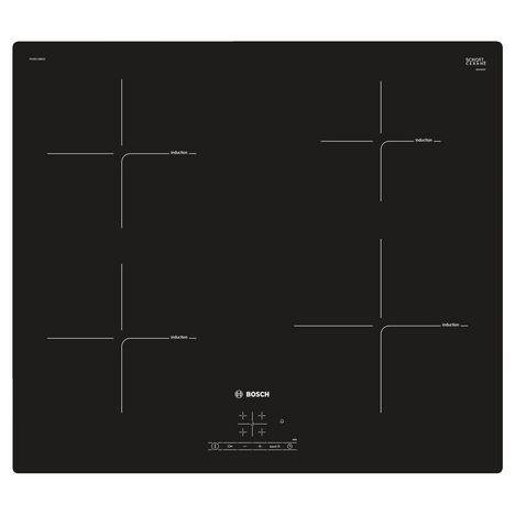 BOSCH Table de cuisson induction PUE611BB1E, 60 cm, 4 foyers