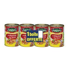 PANZANI Ravioli pur bœuf  3 boites +1 offerte 4x400g