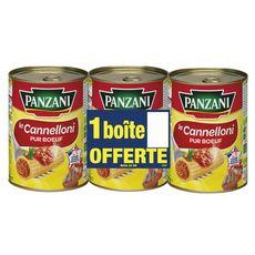 PANZANI Cannelloni pur bœuf   3 boites dont 1 offerte 3x400g