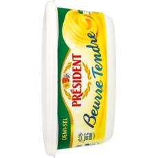 PRESIDENT Beurre tendre demi-sel 250g