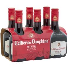 CELLIER DES DAUPHINS 6 mini-bouteilles IGP Méditerranée rouge 6x25cl