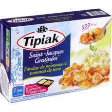 TIPIAK Saint-Jacques gratinées 1 portion 310g