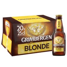 GRIMBERGEN Bière blonde 6,7% bouteilles 20x25cl