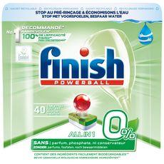 FINISH Powerball tablettes tout en 1 lave-vaisselle 0% 40 lavages 40 tablettes