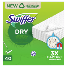 SWIFFER Recharges lingettes sèches attrape poussière pour sol 40 lingettes