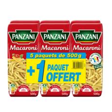 PANZANI Macaroni 5x500g +1offert 3kg