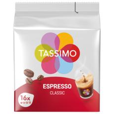 TASSIMO Dosettes de café espresso classic 16 dosettes 96g