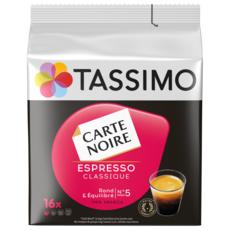 TASSIMO Café espresso classique Carte Noire en dosete 16 dosettes 104g