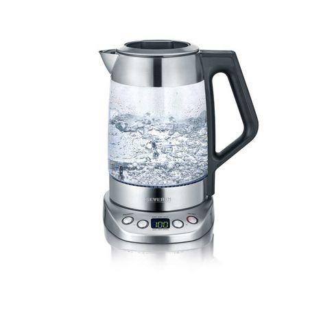 SEVERIN Bouilloire deluxe 2 en 1 eau et thé en inox WK3479