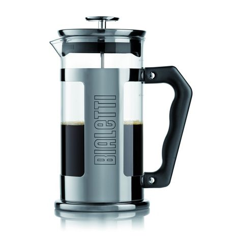 BIALETTI Cafetière à piston FRENCH PRESS(Gris, 1 L)