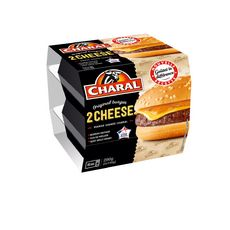 CHARAL Cheeseburger 2 personnes 145g