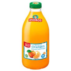 ANDROS Andros Pur jus d'orange pressées sans pulpe 1l+15% offert