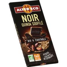 ALTER ECO Tablette de chocolat noir et quinoa soufflé bio et équitable du Pérou 1 pièce 100g