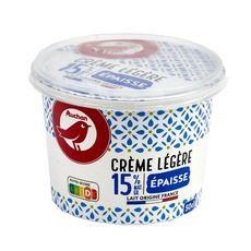 AUCHAN Crème épaisse légère 15%MG 50cl