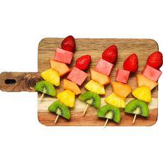LA FRAICHERIE Brochettes de fruits : ananas, kiwi, raisin, mangue, fraise 270g