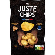 LA JUSTE CHIPS Chips ondulées nature Filière Responsable 150g