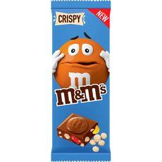 M&M'S Tablette de chocolat au lait fourrée de mini M&M'S crispy 150g