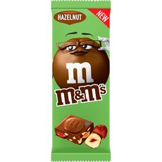 M&M'S Tablette de chocolat au lait fourrée de mini M&M'S et noisettes 165g