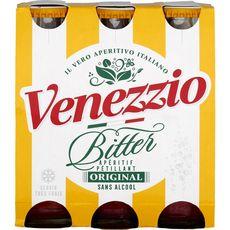 VENEZZIO Bitter apéritif aromatisé gazéifié sans alcool 6X10cl
