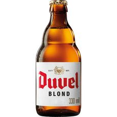 DUVEL Bière blonde 8,5% bouteille 33cl