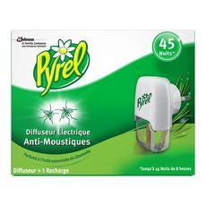 PYREL Diffuseur électrique à la citronnelle anti-moustiques efficace 45 nuits 1 diffuseur