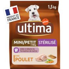 ULTIMA Mini croquettes au poulet pour chien stérilisé 1,5kg