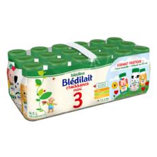 BLEDINA Blédilait 3 lait de croissance liquide de 12 mois à 3 ans 18x25cl