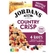 JORDAN'S Céréales country crisp céréales complètes et 3 baies 550g