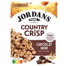 JORDAN'S Country crisp céréales complètes et chocolat noir 550g