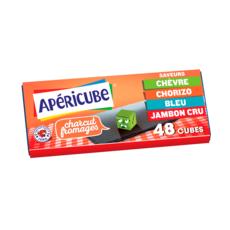 APERICUBE Cubes de fromage apéritif Charcut' Fromages 48 cubes 250g