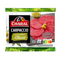 CHARAL Carpaccio boeuf olive 2 personnes 230g