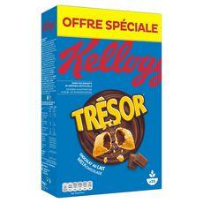 KELLOGG'S Trésor Céréales fourrées chocolat au lait 750g